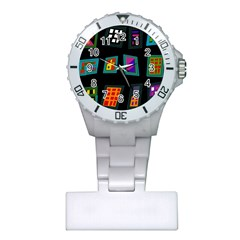 Abstract A Colorful Modern Illustration Plastic Nurses Watch