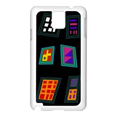 Abstract A Colorful Modern Illustration Samsung Galaxy Note 3 N9005 Case (White)