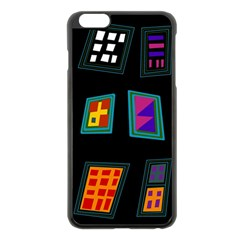 Abstract A Colorful Modern Illustration Apple iPhone 6 Plus/6S Plus Black Enamel Case