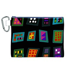 Abstract A Colorful Modern Illustration Canvas Cosmetic Bag (XL)