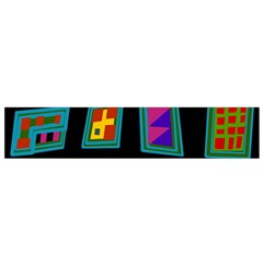 Abstract A Colorful Modern Illustration Flano Scarf (Small)