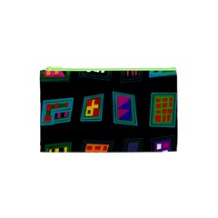 Abstract A Colorful Modern Illustration Cosmetic Bag (xs)