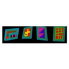 Abstract A Colorful Modern Illustration Satin Scarf (oblong)