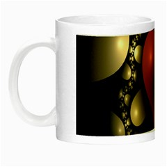 Fractal Of A Red Heart Surrounded By Beige Ball Night Luminous Mugs