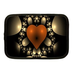 Fractal Of A Red Heart Surrounded By Beige Ball Netbook Case (medium)