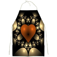 Fractal Of A Red Heart Surrounded By Beige Ball Full Print Aprons