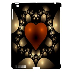 Fractal Of A Red Heart Surrounded By Beige Ball Apple Ipad 3/4 Hardshell Case (compatible With Smart Cover)