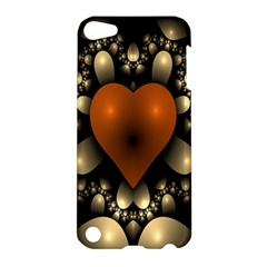 Fractal Of A Red Heart Surrounded By Beige Ball Apple iPod Touch 5 Hardshell Case