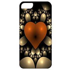 Fractal Of A Red Heart Surrounded By Beige Ball Apple iPhone 5 Classic Hardshell Case