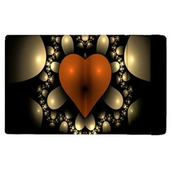 Fractal Of A Red Heart Surrounded By Beige Ball Apple Ipad 3/4 Flip Case