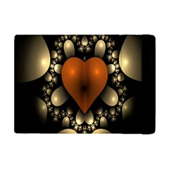 Fractal Of A Red Heart Surrounded By Beige Ball Apple iPad Mini Flip Case