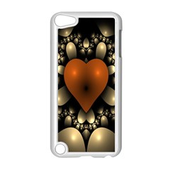 Fractal Of A Red Heart Surrounded By Beige Ball Apple iPod Touch 5 Case (White)
