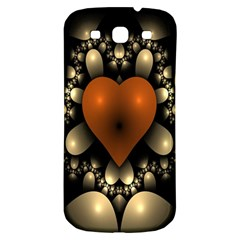 Fractal Of A Red Heart Surrounded By Beige Ball Samsung Galaxy S3 S III Classic Hardshell Back Case