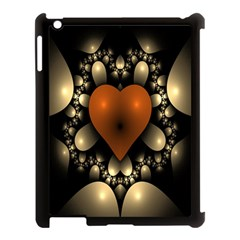 Fractal Of A Red Heart Surrounded By Beige Ball Apple iPad 3/4 Case (Black)