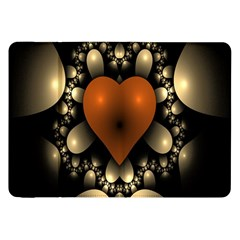 Fractal Of A Red Heart Surrounded By Beige Ball Samsung Galaxy Tab 8.9  P7300 Flip Case