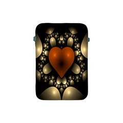 Fractal Of A Red Heart Surrounded By Beige Ball Apple iPad Mini Protective Soft Cases