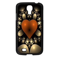 Fractal Of A Red Heart Surrounded By Beige Ball Samsung Galaxy S4 I9500/ I9505 Case (black)