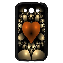 Fractal Of A Red Heart Surrounded By Beige Ball Samsung Galaxy Grand DUOS I9082 Case (Black)