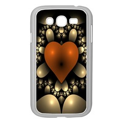 Fractal Of A Red Heart Surrounded By Beige Ball Samsung Galaxy Grand DUOS I9082 Case (White)