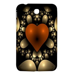 Fractal Of A Red Heart Surrounded By Beige Ball Samsung Galaxy Tab 3 (7 ) P3200 Hardshell Case