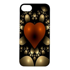 Fractal Of A Red Heart Surrounded By Beige Ball Apple iPhone 5S/ SE Hardshell Case