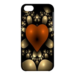 Fractal Of A Red Heart Surrounded By Beige Ball Apple Iphone 5c Hardshell Case