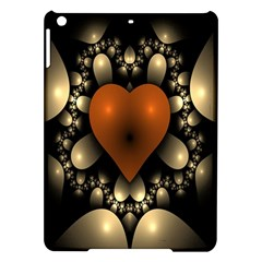 Fractal Of A Red Heart Surrounded By Beige Ball iPad Air Hardshell Cases
