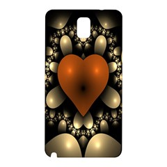 Fractal Of A Red Heart Surrounded By Beige Ball Samsung Galaxy Note 3 N9005 Hardshell Back Case