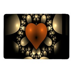 Fractal Of A Red Heart Surrounded By Beige Ball Samsung Galaxy Tab Pro 10.1  Flip Case