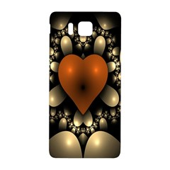 Fractal Of A Red Heart Surrounded By Beige Ball Samsung Galaxy Alpha Hardshell Back Case