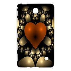 Fractal Of A Red Heart Surrounded By Beige Ball Samsung Galaxy Tab 4 (7 ) Hardshell Case