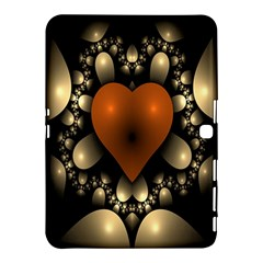 Fractal Of A Red Heart Surrounded By Beige Ball Samsung Galaxy Tab 4 (10 1 ) Hardshell Case