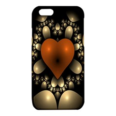 Fractal Of A Red Heart Surrounded By Beige Ball iPhone 6/6S TPU Case