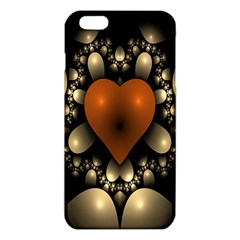 Fractal Of A Red Heart Surrounded By Beige Ball iPhone 6 Plus/6S Plus TPU Case