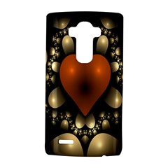 Fractal Of A Red Heart Surrounded By Beige Ball Lg G4 Hardshell Case