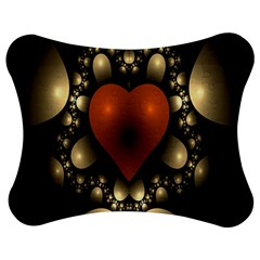 Fractal Of A Red Heart Surrounded By Beige Ball Jigsaw Puzzle Photo Stand (bow)