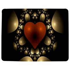 Fractal Of A Red Heart Surrounded By Beige Ball Jigsaw Puzzle Photo Stand (rectangular)