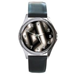 Abstract Hintergrund Wallpapers Round Metal Watch