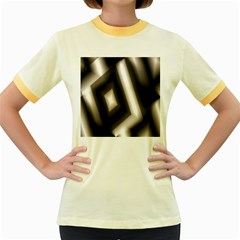Abstract Hintergrund Wallpapers Women s Fitted Ringer T-Shirts