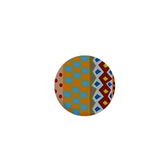 Abstract A Colorful Modern Illustration 1  Mini Buttons