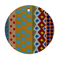 Abstract A Colorful Modern Illustration Ornament (Round)