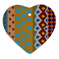 Abstract A Colorful Modern Illustration Ornament (Heart)