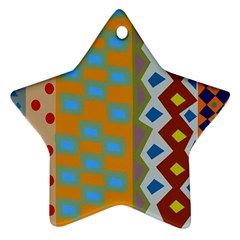 Abstract A Colorful Modern Illustration Ornament (star)
