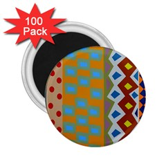 Abstract A Colorful Modern Illustration 2 25  Magnets (100 Pack)