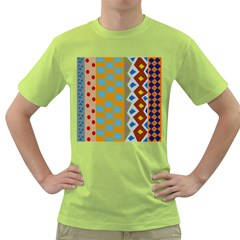 Abstract A Colorful Modern Illustration Green T Shirt