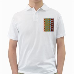 Abstract A Colorful Modern Illustration Golf Shirts
