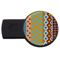 Abstract A Colorful Modern Illustration USB Flash Drive Round (2 GB)