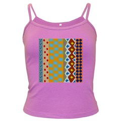 Abstract A Colorful Modern Illustration Dark Spaghetti Tank