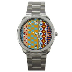 Abstract A Colorful Modern Illustration Sport Metal Watch