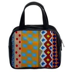 Abstract A Colorful Modern Illustration Classic Handbags (2 Sides)